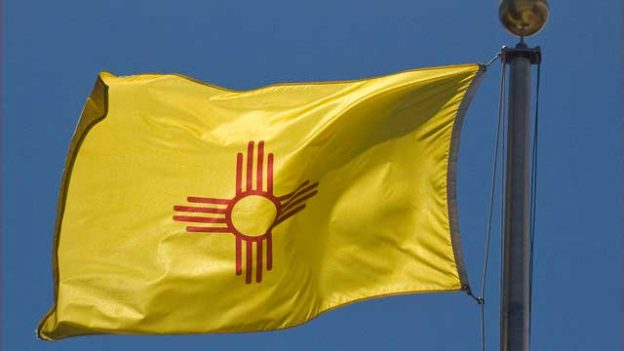 """New Mexico State Flag -- The Capitol Santa Fe (NM)"" by Ron Cogswell licensed under CC BY 2.0"