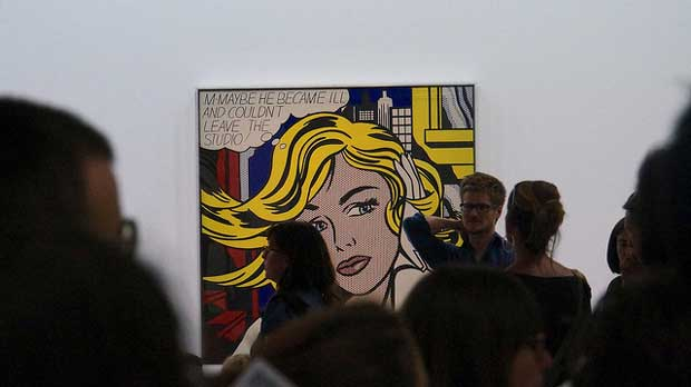 """Roy Lichtenstein"" by Marcus Hansson licensed under CC BY 2.0"