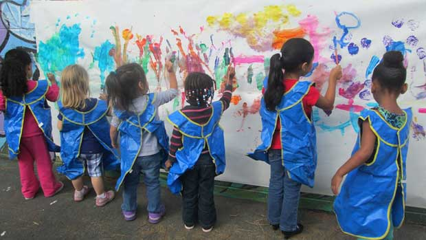 """Children painting"" Photo courtesy of Children Today"