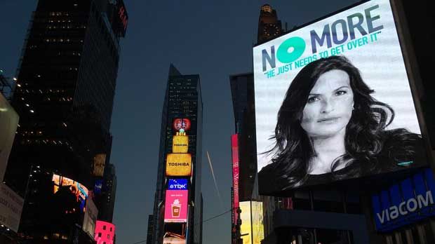 """digital billboard campaign in Times Square"" Photo courtesy of 1in6"