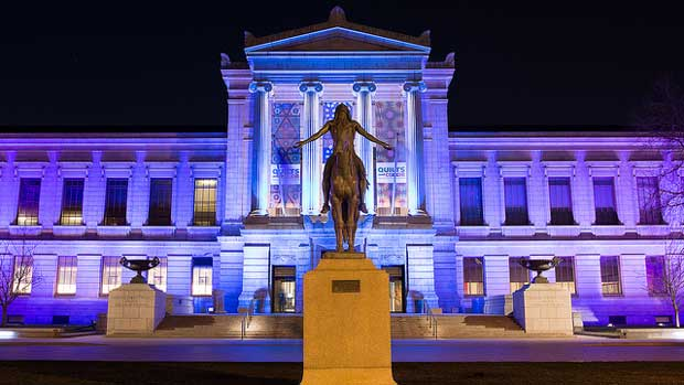 """""""MFA Colors at Night"""" by Bill Damon licensed under CC BY 2.0"""
