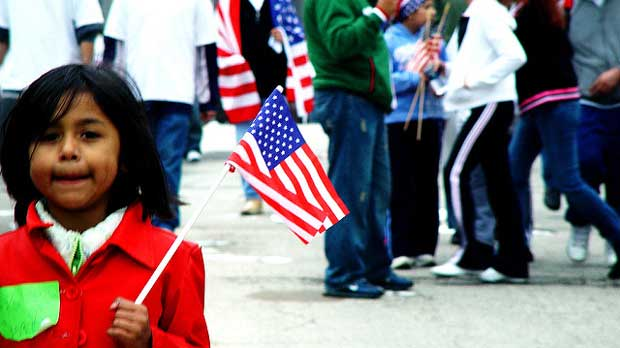 """Chicago Immigration Protest May 1, 2006"" by jvoves licensed under CC BY 2.0"