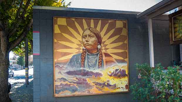 """""""Native American Mural by Lmnopi, 2012"""" by Jay Galvin licensed under CC BY 2.0"""
