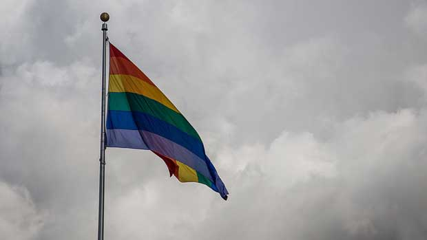 """""""Hillcrest Rainbow Flag"""" by Tony Webster licensed under CC BY 2.0"""