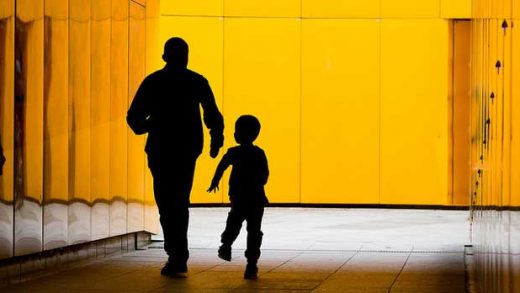 """""""Orange Tunnel, Man and Boy"""" by Barney Moss licensed under CC BY 2.0"""