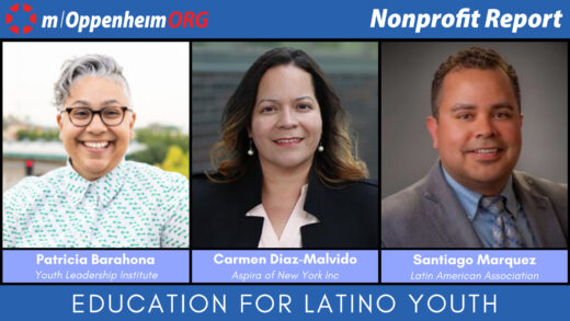 Patricia Barahona, CEO of the Youth Leadership Institute; Carmen Diaz-Malvido, CEO of Aspira of New York and Santiago Marquez, CEO of Latin American Association.