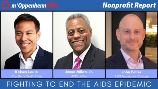 Jesse Milan Jr., President & CEO of AIDS United; John Peller, President & CEO of the AIDS Foundation of Chicago and Kelsey Louie, CEO of Gay Men's Health Crisis.