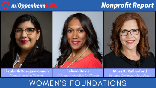 Felicia Davis, President & CEO of the Chicago Foundation for Women; Elizabeth Barajas-Roman, President & CEO of the Women's Funding Network and Mary Rutherford, President & CEO of the Montana Community Foundation.