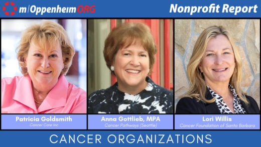 Mark Oppenheim leads a discussion on the importance of cancer organizations, with guests; Patricia Goldsmith, CEO of CancerCare Anna Gottlieb, MPA, Founder & Executive Director of Cancer Pathways & Lori Willis, Executive Director of Cancer Foundation of Santa Barbara