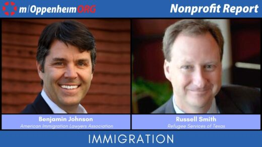 Mark Oppenheim leads a discussion on the USA's broken immigration system, with guest; Benjamin Johnson, Executive Director of American Immigration Lawyers Association & Russell Smith, CEO of Refugee Services of Texas