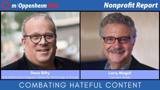 Mark Oppenheim leads a discussion on combating hateful content online, with guests; Dave Sifry, Vice President of Anti-Defamation League's Center for Technology & Society & Larry Magid, CEO & Co-Founder of Connect Safely