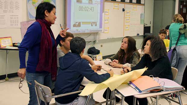 """middle school spanish class"" by woodleywonderworks licensed under CC BY 2.0"