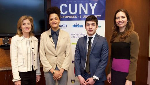 """""""Ambassador Kennedy and Assistant Secretary Evan Ryan pose with CUNY students"""" by Exchanges Photos licensed under CC BY 2.0"""