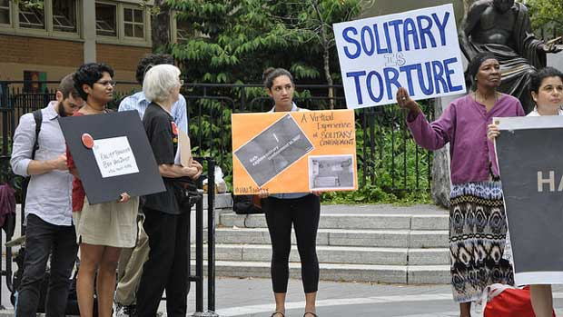 """End Solitary Confinement"" by Felton Davis licensed under CC BY 2.0"