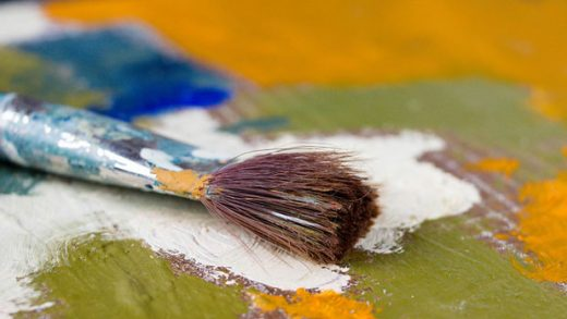 """""""Artist paint brush and palette"""" by Marco Verch Professional Photographer and Speaker licensed under CC BY 2.0"""