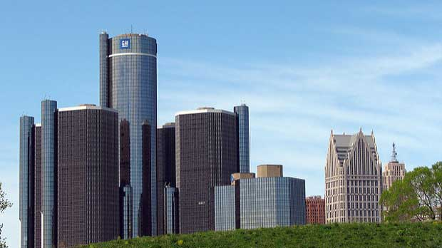 """""""Detroit Skyline"""" by Dave Hogg licensed under CC BY 2.0"""