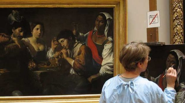 """""""Copying a painting"""" by Chris Waits licensed under CC BY 2.0"""