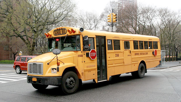 """School Bus Empire State Bus Corp 2508"" by Howard Pulling licensed under CC BY 2.0"