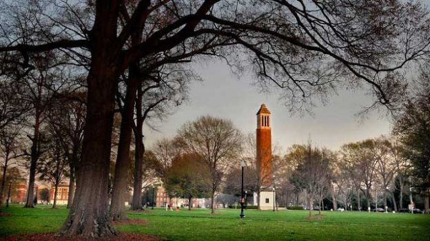 """Denny Chimes & Quad"" by Visit Tuscaloosa licensed under CC BY 2.0"
