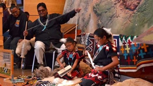 """""""Grand Canyon Archaeology Day 2013 Carding & Spinning 3653"""" by Patrick Feller licensed under CC BY 2.0"""