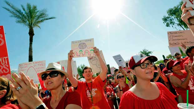 Teacher Protests Arizona