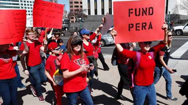 Teacher Protests Pension Problems