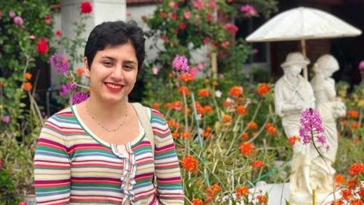 This September 2018 photo provided by Louis-Henri Merino shows Alaleh Azhir in Los Angeles. Azhir, a 21-year old senior at Johns Hopkins University in Maryland, is among the latest crop of American Rhodes scholars, which has more women than any other single class. The New York City resident who emigrated from Iran when she was 14 years old, hopes to eventually become a doctor and will be studying women's and reproductive health at Oxford. (Louis-Henri Merino via AP)