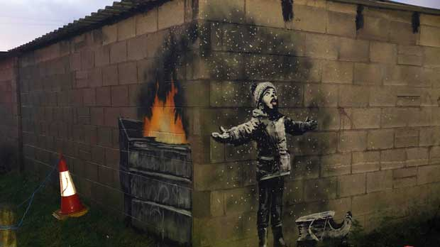 Britain Banksy in Wales