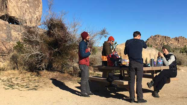 People visit Joshua Tree National Park in the southern California desert Thursday, Jan. 3, 2019. President Donald Trump made a surprise appearance in the White House briefing room Thursday on the 13th day of the partial government shutdown, as he continued to dig in his heels over his promised border wall. (AP Photo/Krysta Fauria)