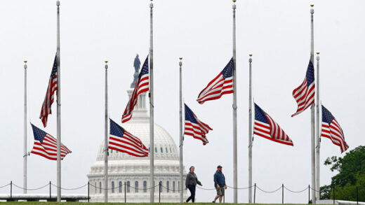 Flags flying in DC