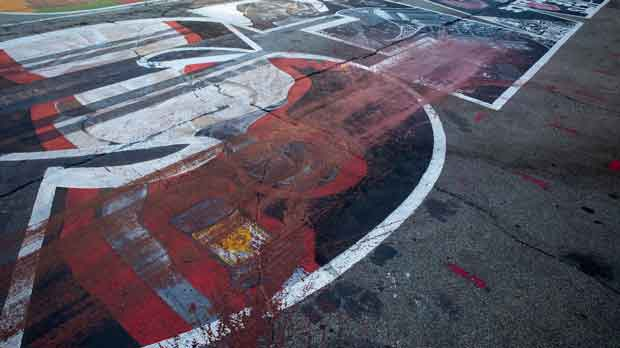 Red paint marred Black Lives Matter mural in front of City Hall