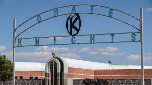 Onate High School is pictured in Las Cruces, New Mexico