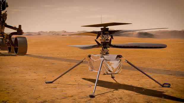 illustration of Ingenuity Mars Helicopter