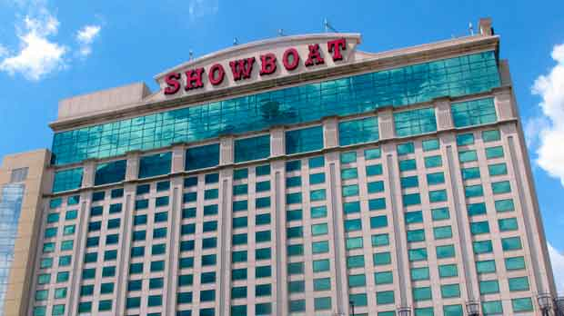 the exterior of the Showboat hotel