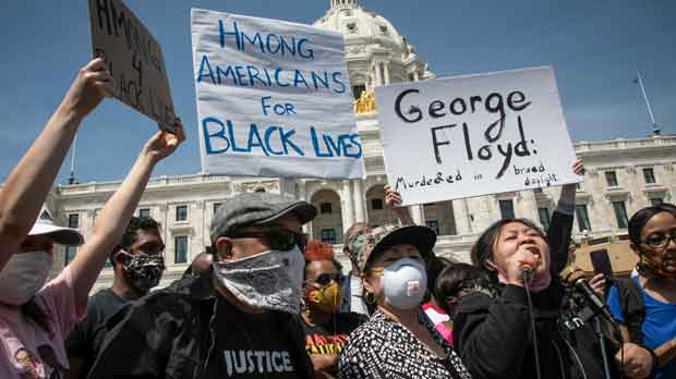 Black Lives Matter rally for George Floyd