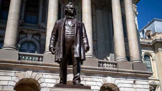 A statue of Stephen Douglas