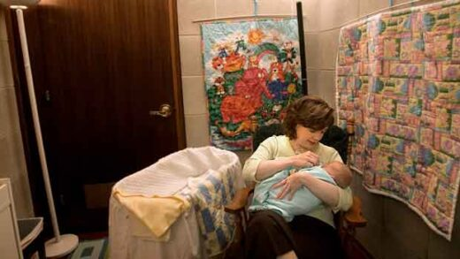 Rep. Melanie Wade Goodwin visits with her 11 day-old baby