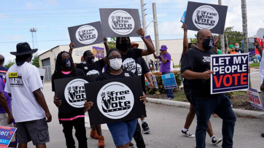 Supporters of restoring Florida felons' voting rights