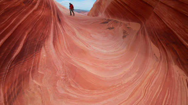 The Wave in the Vermilion Cliffs National Monument in Arizona