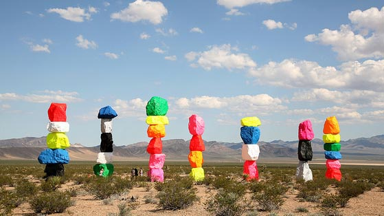 """""""Seven Magic Mountains"""" by Travel Nevada licensed under CC BY 2.0"""