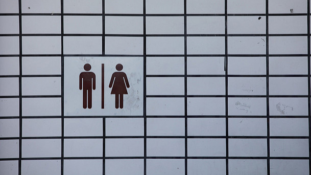 """""""Robert Scoble"""" by Bathroom sign in San Francisco licensed under CC BY 2.0"""