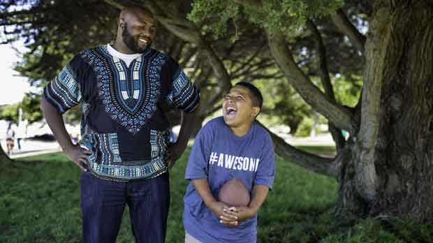 """""""Big Brother with Little Brother"""" Photo courtesy of Big Brothers Big Sisters of the Bay Area"""