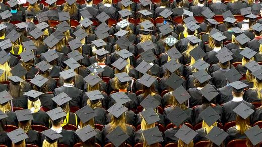 """""""graduation caps"""" by John Walker licensed under CC BY 2.0"""