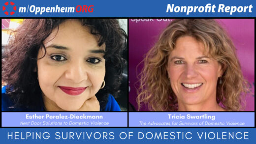 Esther Peralez-Dieckmann, Executive Director of Next Door Solutions to Domestic Violence and Tricia Swartling, CEO of the Advocates for Survivors of Domestic Violence.