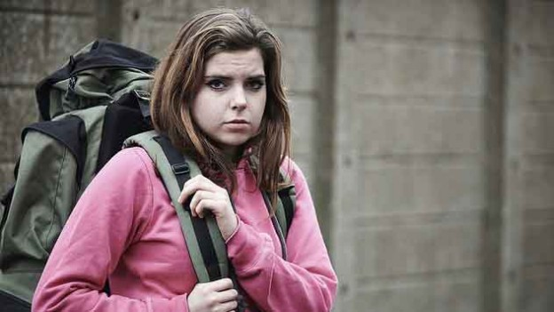 """Homeless teenage girl on street with rucksack"" by U.S. Department of Agriculture licensed under CC BY 2.0"