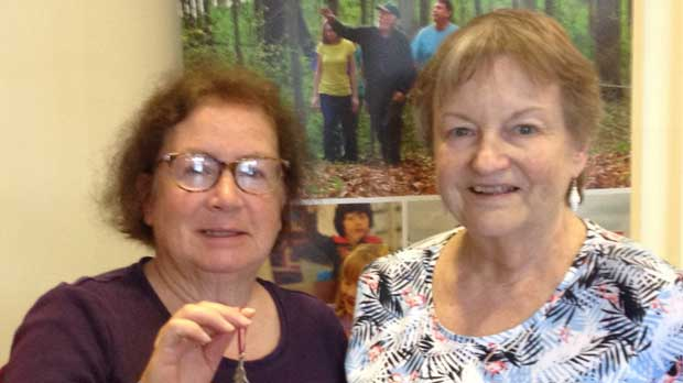 """""""Home Savers of Delaware County President Connie Gregory and Vice President Michelle Kaitchuck"""" Photo courtesy of Home Savers of Delaware County"""