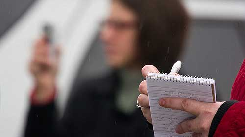 """""""Reporter's notebook"""" by Roger H. Goun licensed under CC BY 2.0"""
