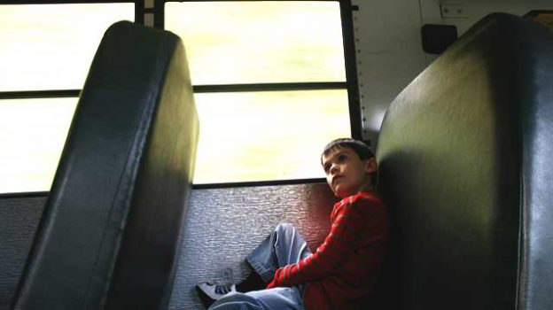 """alone on the school bus"" by woodleywonderworks licensed under CC BY 2.0"
