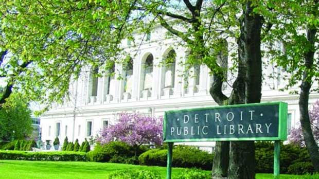 """Detroit Public Library"" Photo courtesy of Detroit Public Library"