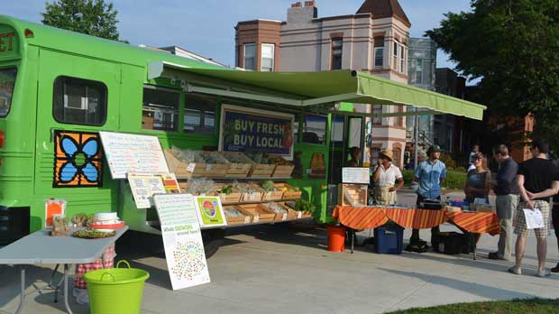 """""""Mobile Market"""" Photo courtesy of Arcadia Center for Sustainable Food & Agriculture"""